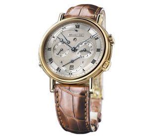 Breguet Classique Alarm Gold Mens Wrist Watch