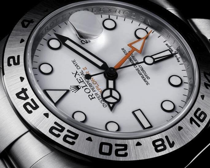 Rolex Explorer II Orange Hand Detail Close