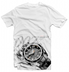 James Bond Omega Watch White T-Shirt