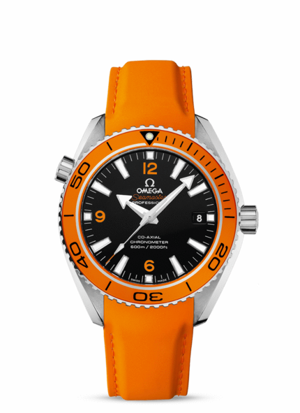 Omega Watches Seamaster Orange Rubber Strap