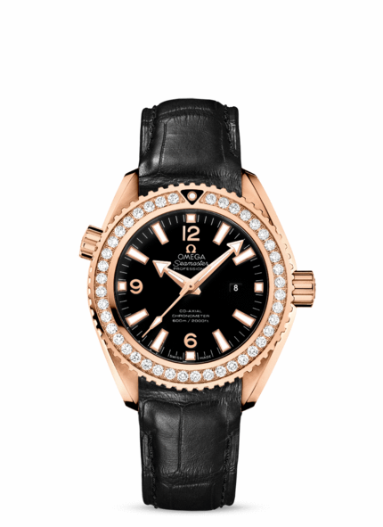 Omega Watches Seamaster Rose Gold on Leather