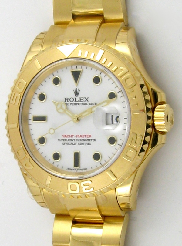 ROLEX 18CT GOLD YACHTMASTER