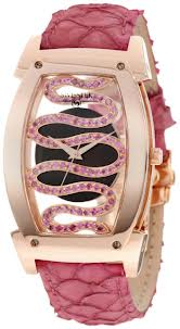 Swisstek Women's SK81902L Serpentine Pink Sapphire and Rose-Gold-Plated Limited Edition Watch